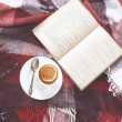 Tea and reading — 图库照片