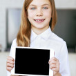 Stock Photo: Child with tablet pc