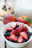 Fruits and milk — Stockfoto
