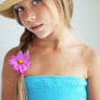 Girl with a flower — Stock Photo #43323545
