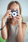 Little photographer — Stock Photo