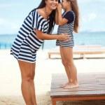 Happy family at beach — Stock Photo #44861007