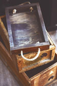 Reclaimed wood box — Stock Photo