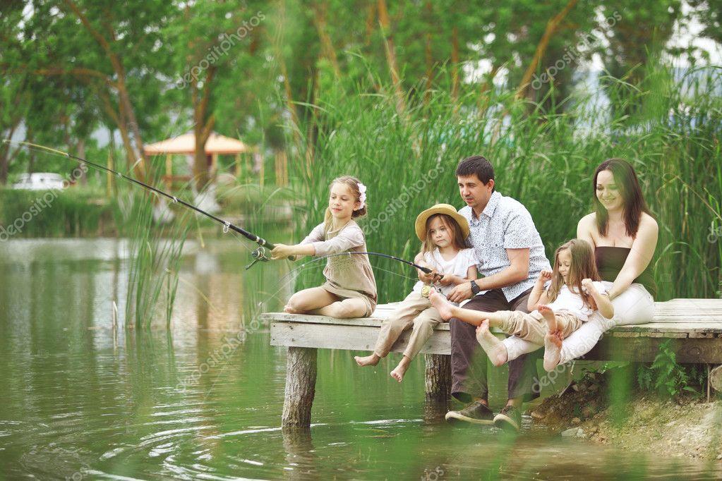 рыбалка хобби нашей семьи