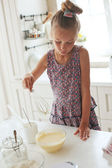 Child cooking — Stock Photo
