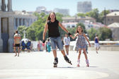 Rollerskating — Stock Photo