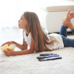 Child watching tv — Stock Photo #50011343