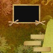 复古背景与帧 — 图库照片