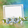 Greeting card with flowers and space for your own text — Stock Photo