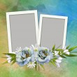 Elegant Floral greeting card — Stock Photo #21744811