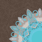 Ornamental background in ethnic style — Vector de stock