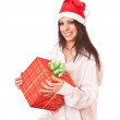 Beautiful girl in christmas cap. — Stock Photo #1288760