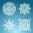 Snowflakes winter set - Stock Vector