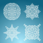 Snowflakes winter set — Stock Vector