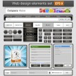 Royalty-Free Stock Imagen vectorial: Black web design elements set.