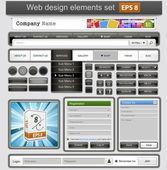 黑色 web 设计元素集. — 图库矢量图片