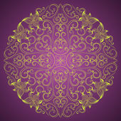 Ornamental round lace in fantasy style — Stock Vector