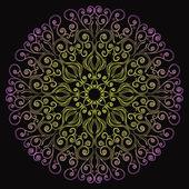 Laço redondo decorativo no estilo fantasia — Vetorial Stock