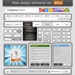White web design elements set. — Stock Vector