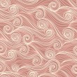 Seamless abstract hand-drawn pattern, waves background - Stock Vector