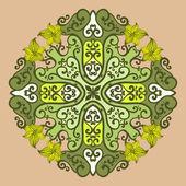 декоративные круглый кружева в стиле фэнтези — Cтоковый вектор