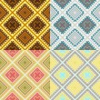 Royalty-Free Stock Vector Image: Set of four seamless african textures