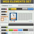 Web design elements set. — Stock Vector