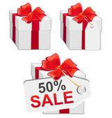 White sale presents set — Stock Vector