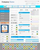 Web design elements set. — Stock Vector