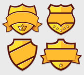 Set of gold vector retro badges — Stock Vector