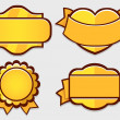 Stock Vector: Set of gold vector retro badges