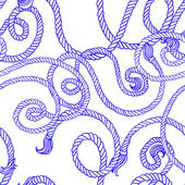 Seamless pattern with ropes — ストックベクタ