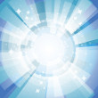 Blue bright background with rays — Stock Vector