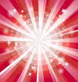 červené světlé pozadí s paprsky — Stock vektor