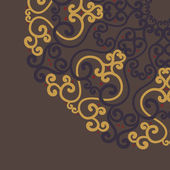 Ozdobnych koronek okrągły w stylu fantasy — Wektor stockowy