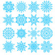 Set of sixteen snowflakes — Stock Vector #35786659
