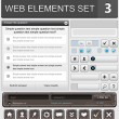 ensemble d'éléments Web design — Vecteur