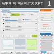 web design elements set — Stock Vector