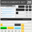 Web design elements set — Stock Vector #35836927