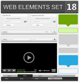 Web design elements set — Vecteur