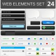 Web design elements set — Stockvectorbeeld
