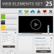 Web design elements set — Image vectorielle