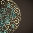 Ornamental round lace in fantasy style — Imagen vectorial