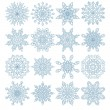 Set of sixteen snowflakes — Stock Vector #37327029