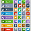 Web design buttons set — Vecteur #38302965