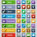 Web design buttons set — Stock Vector