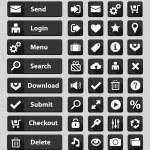 Black web design buttons set — Stock Vector