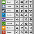 Black web design buttons set — Vecteur #38394977