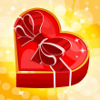 Red heart box — Vector de stock #38763641