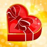 rood hart vak — Stockvector